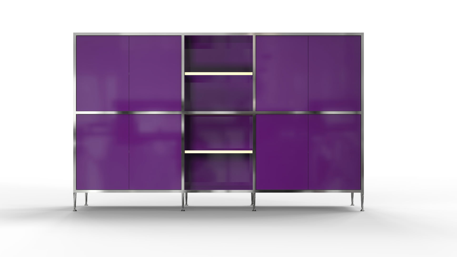 credenza 3 configuration modular adaptive furniture system